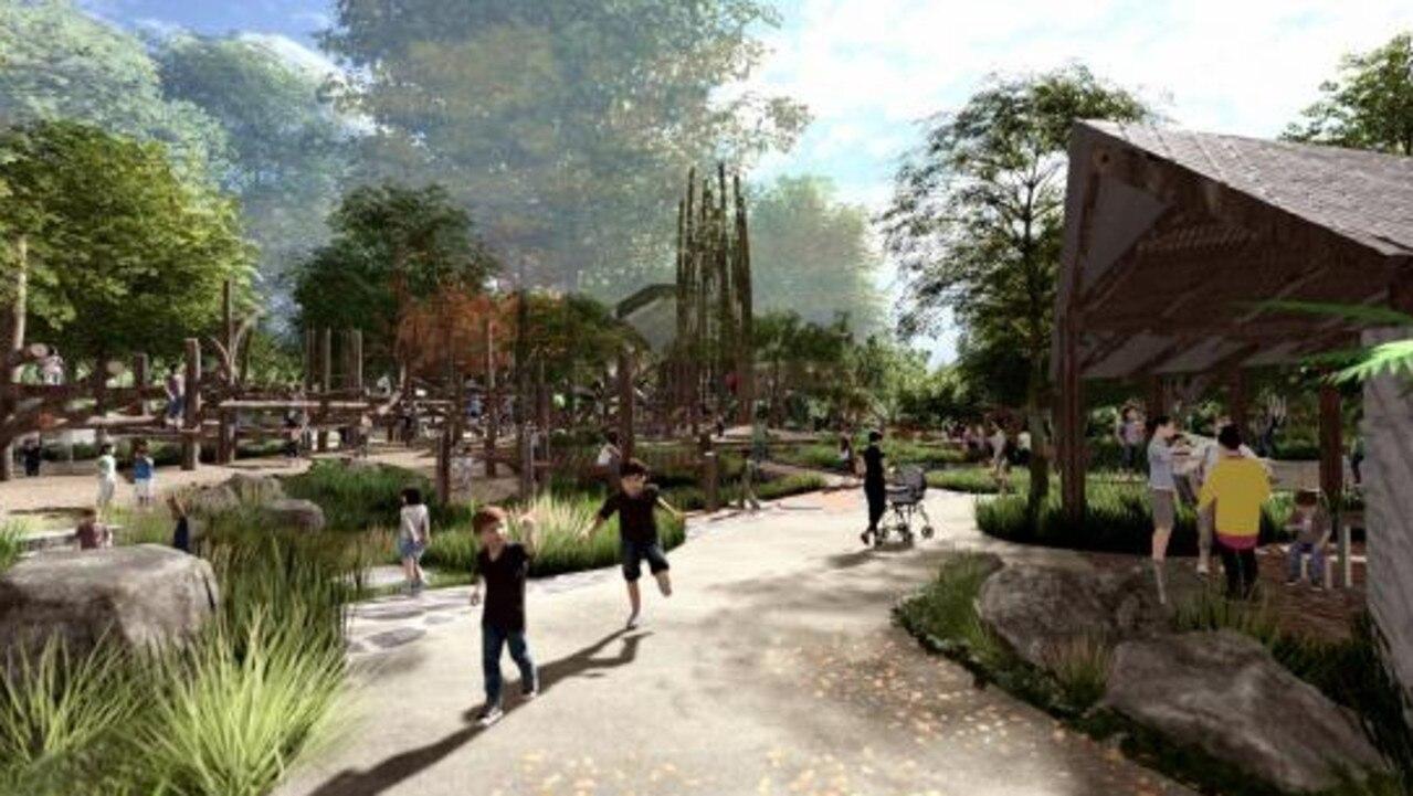 An artist impression of the Noosa hinterland playground.