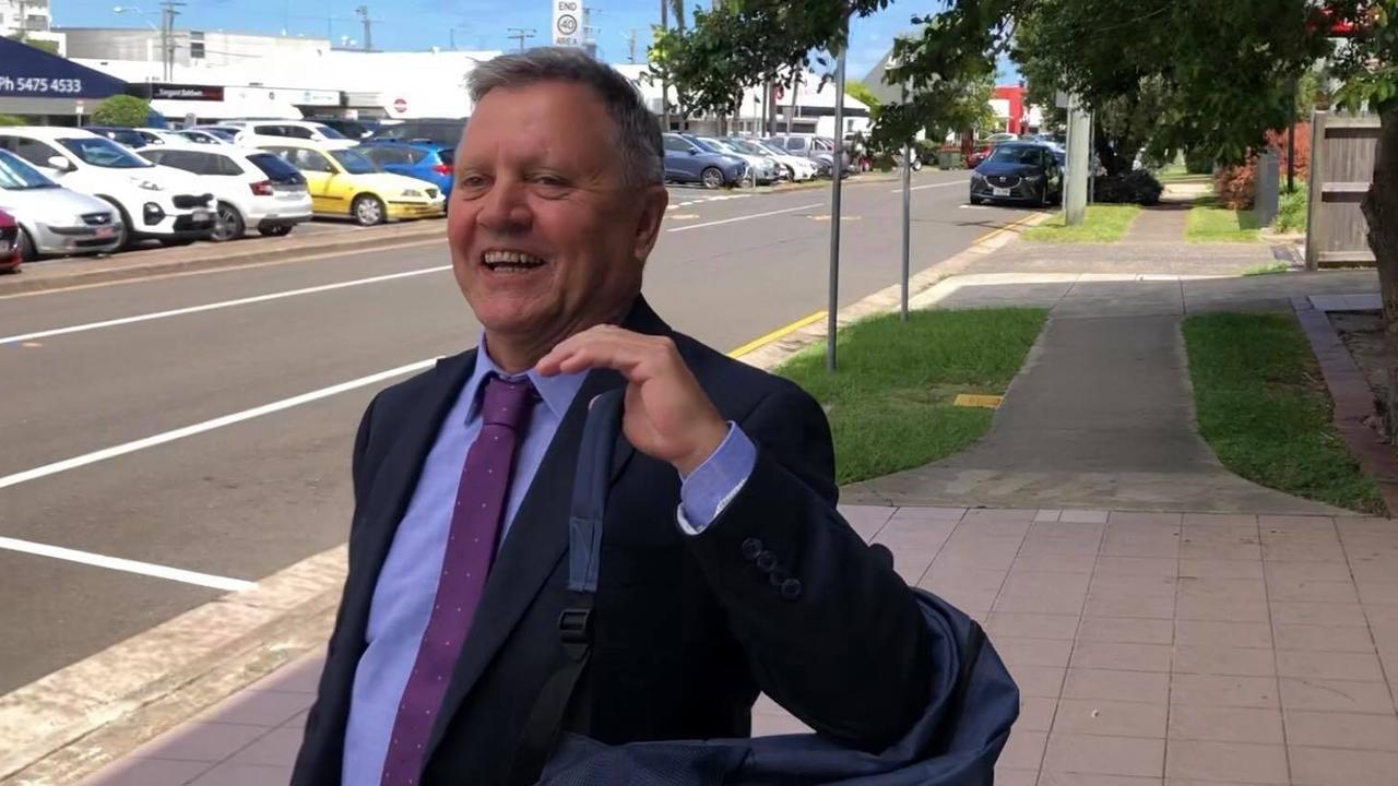 Former Hope Vale Aboriginal Shire Council chief executive Lee Robertson leaving court on the third day of his trial. Picture: Laura Pettigrew.