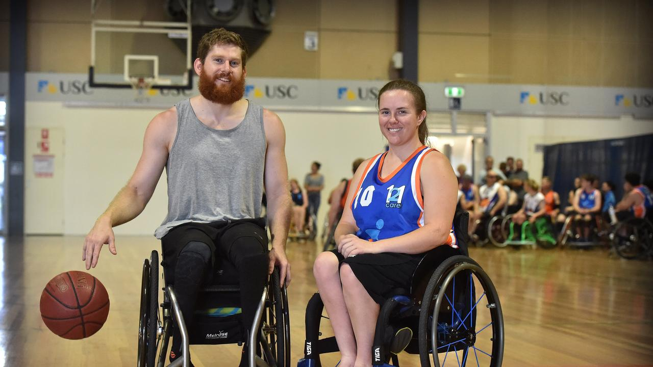 Sippy Downs athletes Steve Elliott and Hannah Dodd entered Australian camps for the Tokyo Paralympics in Canberra last week. Picture: Warren Lynam.