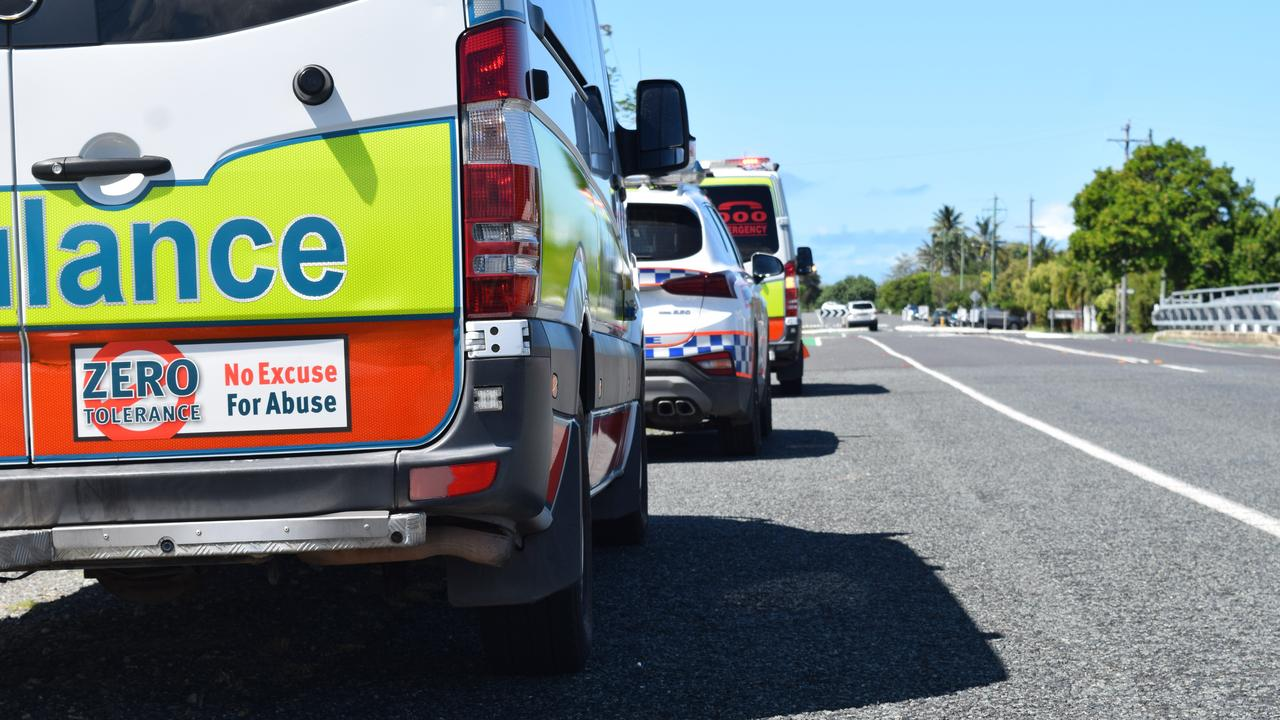 Emergency crews attend a two-vehicle crash at Plainland. Pic: file photo