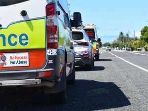 Woman hospitalised after multi-vehicle crash