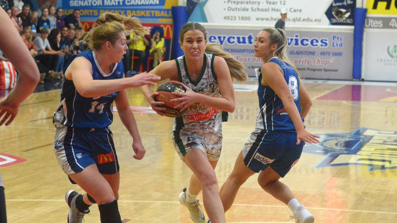 Ipswich Force's Georgia Ralph always gives 100 per cent on the court. Picture: Jaan Houley