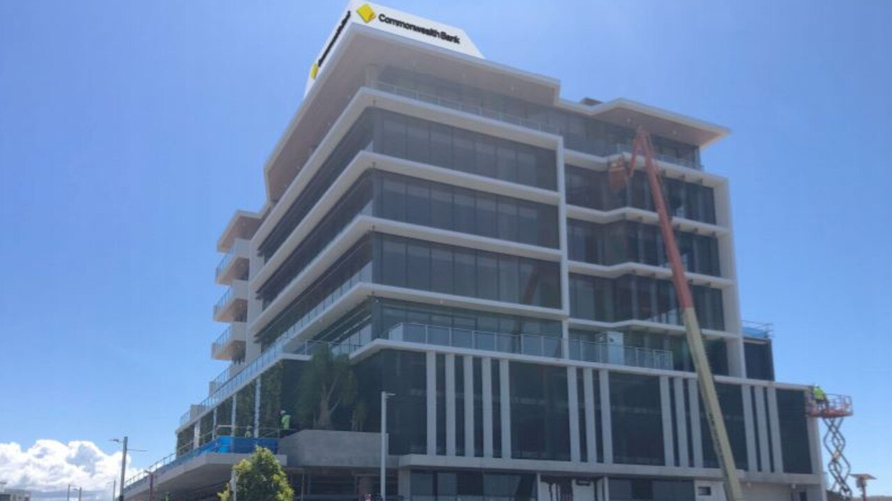 Commonwealth Bank has applied to the State Government to have a sign placed on Foundation Place's rooftop in the Maroochydore City Centre.