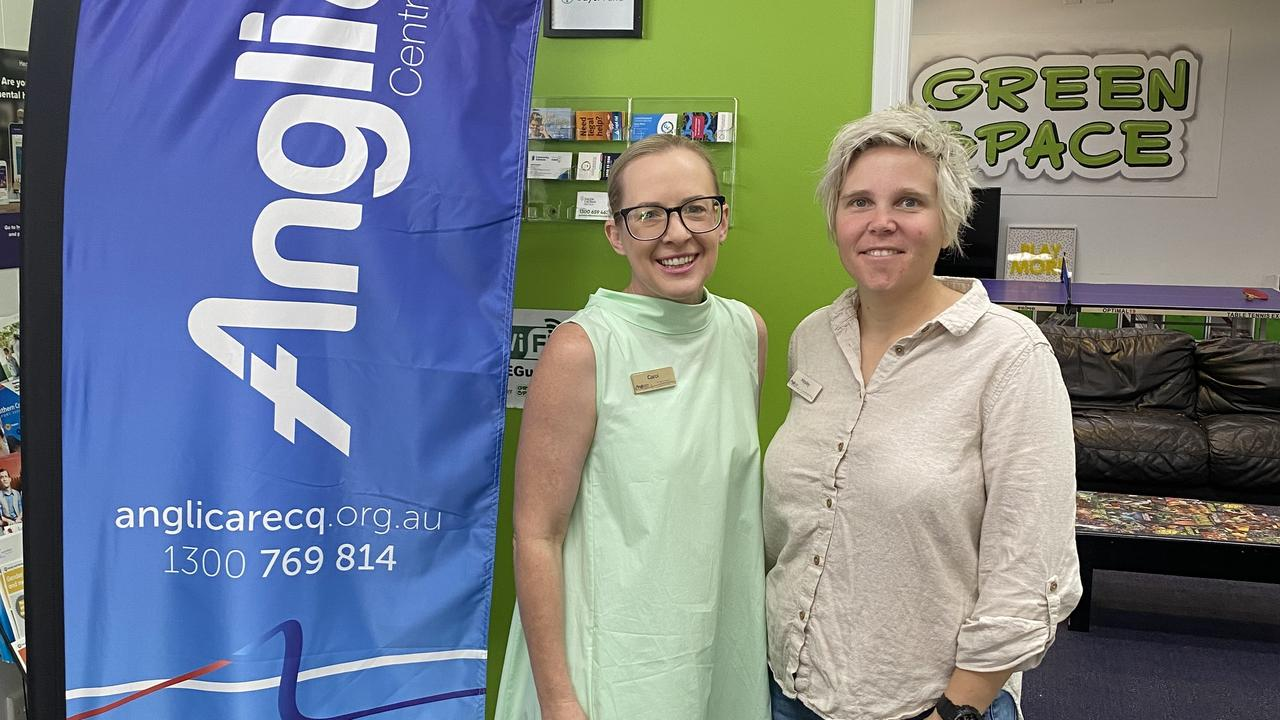 AnglicareCQ's CEO Carol Godwin and Anglicare CQ's Acting Manager: Children, Youth and Families, Hayley Mattson-Finger.