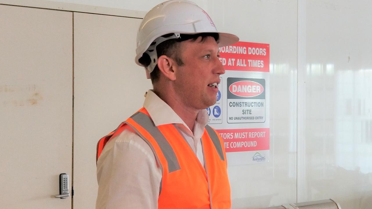 Steven Miles at Rockhampton Airport on Thursday.