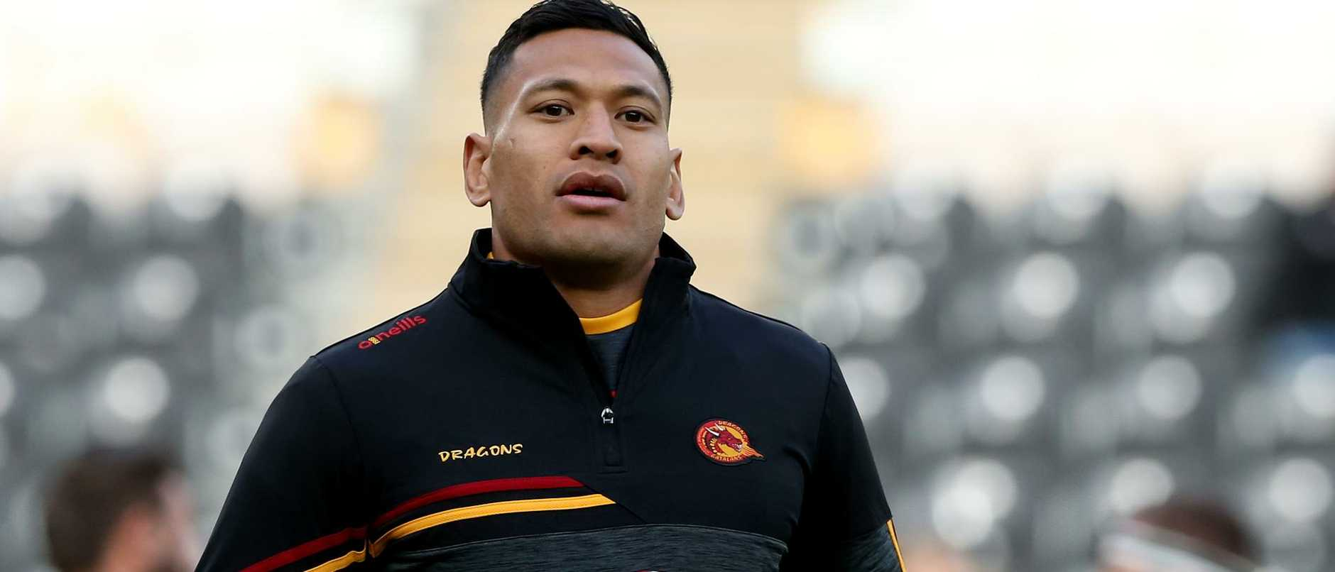 Israel Folau was hazed by a notorious NRL pest when he joined his new team's WhatsApp group and walked right into an ambush.