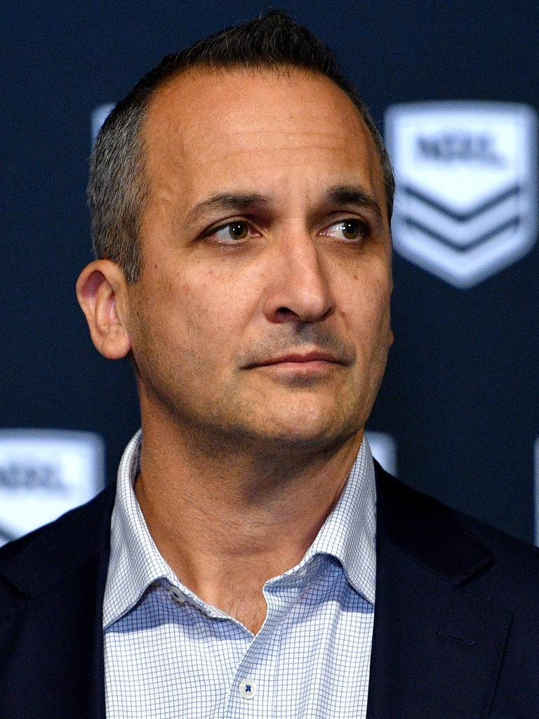 NRL CEO Andrew Abdo. Picture: Dan Himbrechts
