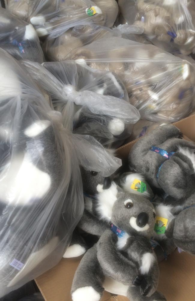 New consignment of fake Aussie koalas. Picture: GJ