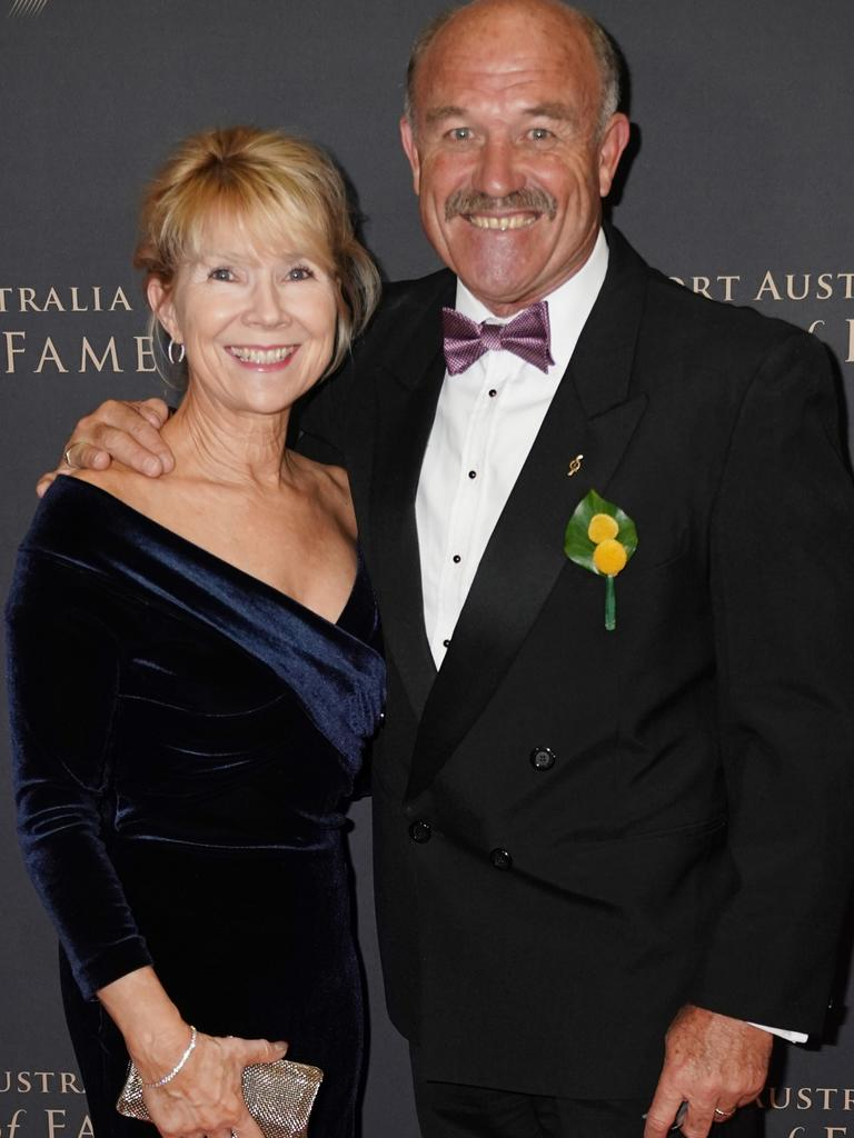 Wally and Jackie Lewis at a Sport Australia Hall of Fame awards gala in 2019