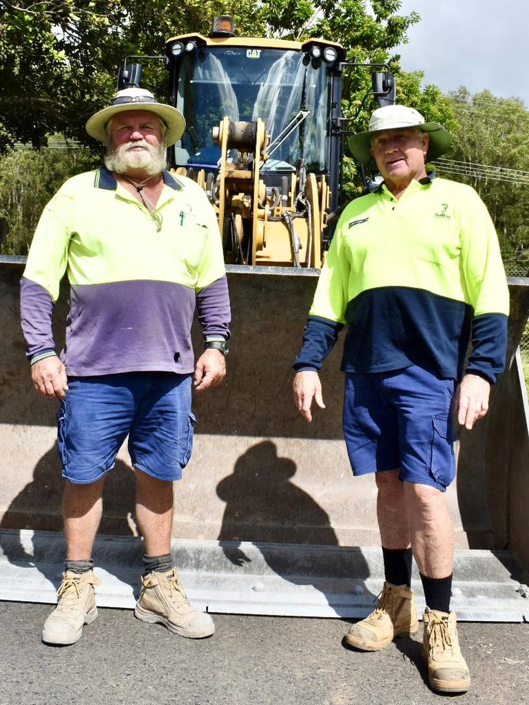 Mark Newsham and Paul Henderson celebrated 40 years working for Ballina Shire Council.