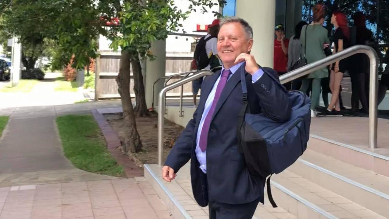 Former Hope Vale Aboriginal Shire Council chief executive Lee Robertson leaves court on the third day of his trial. Picture: Laura Pettigrew