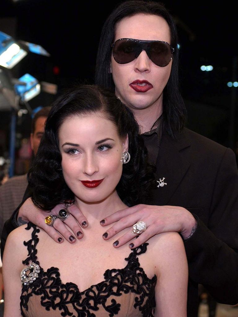 Manson and Dita Von Teese, pictured in 2001, were in a seven-year relationship.