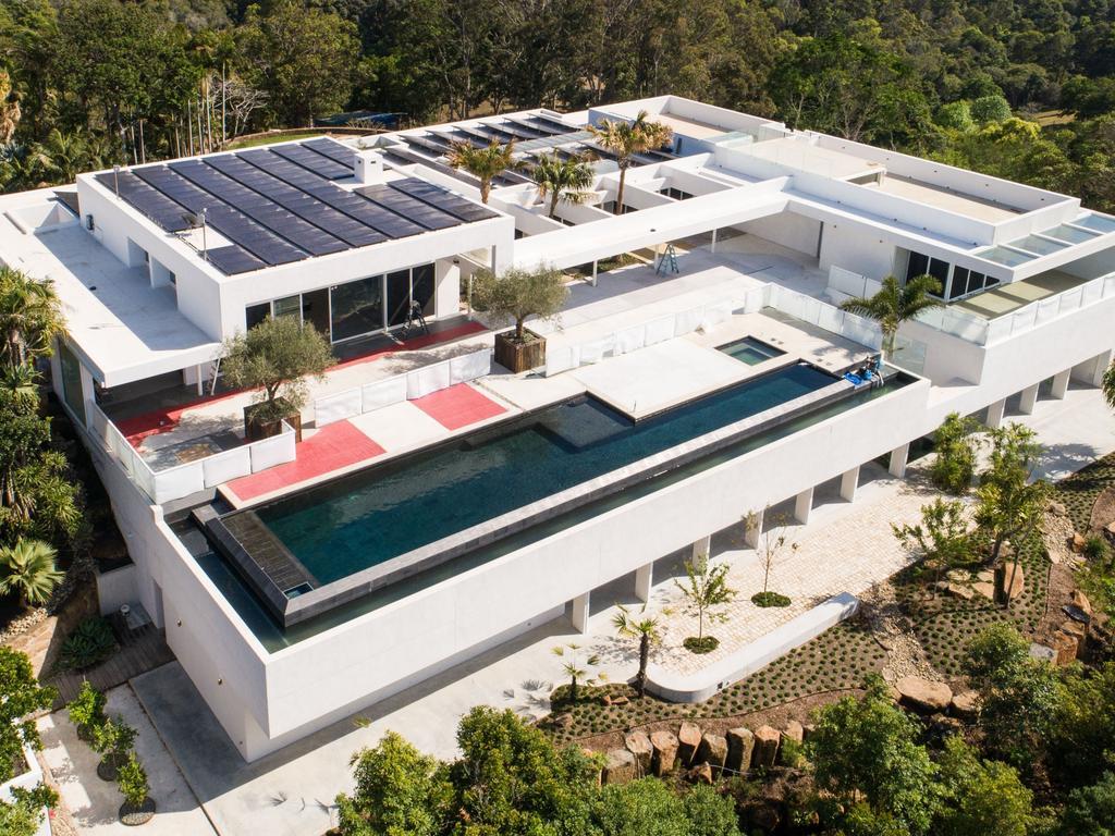 Chris Hemsworth and Elsa Pataky's Byron Bay mega-mansion. Picture: Media Mode