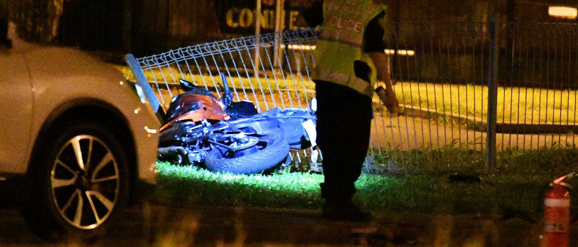 A mother first on scene to a fatal crash has relived what she heard and saw moments before a motorcyclist was killed.