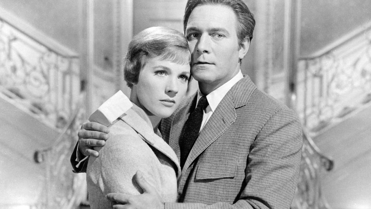 Christopher Plummer with Julie Andrews in a promotional portrait for The Sound of Music. Picture: Silver Screen Collection/Getty Images