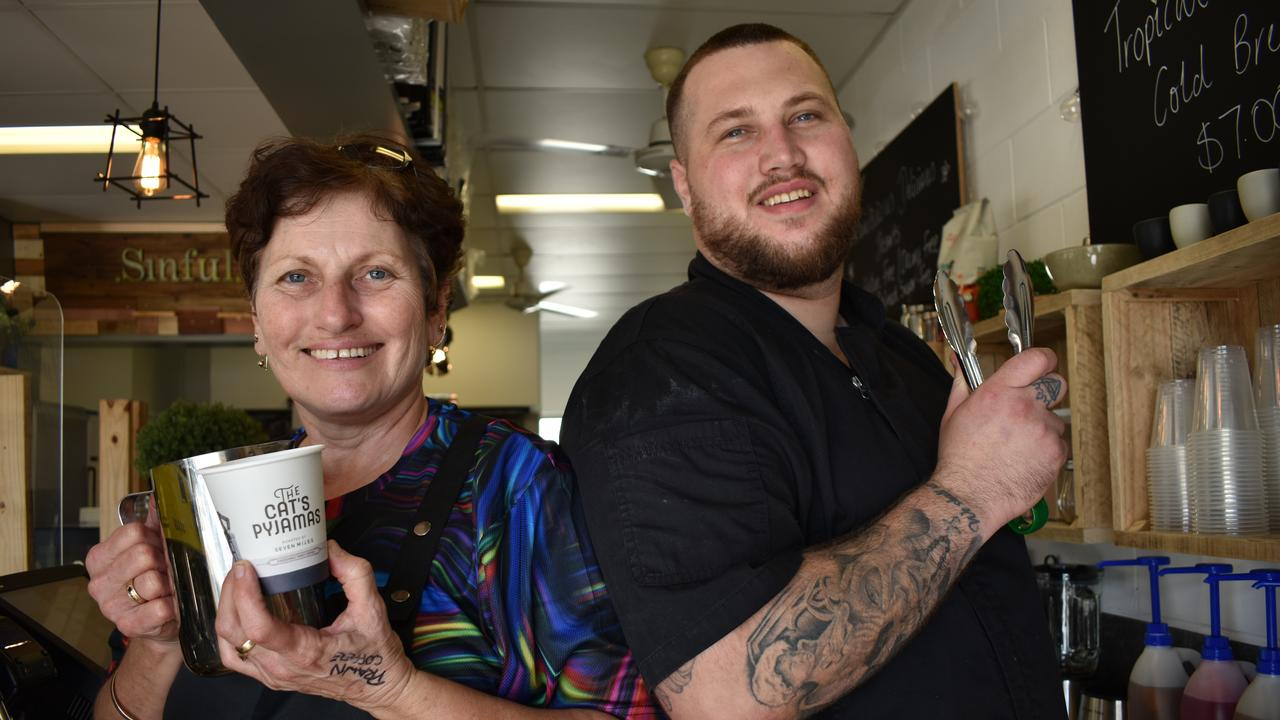 Yaw owners Brandan Tranberg and his mother Leanne Tranberg opened their new Gregory St cafe and restaurant on Tuesday August 4. Picture: Zizi Averill