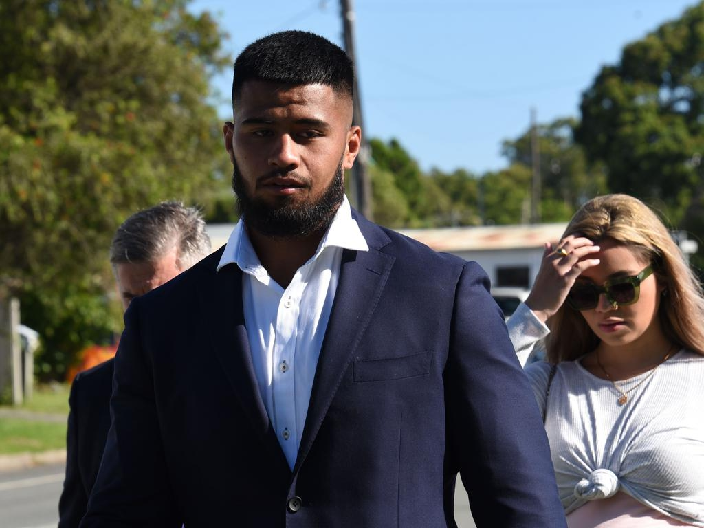 Brisbane Broncos forward Payne Haas pled guilty to to two charges of intimidating police. Picture: NCA NewsWire/Steve Holland