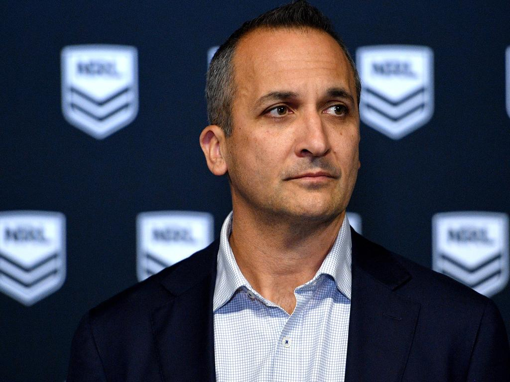NRL CEO Andrew Abdo said Haas would face sanctions. Picture: Dan Himbrechts/AAP