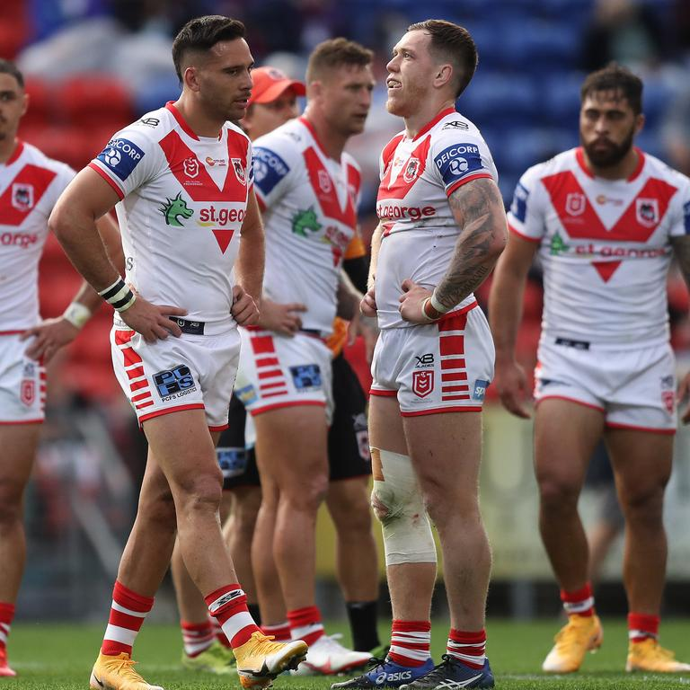 The Dragons are the sad punchline in rugby league's newest joke. Picture: Brett Costello