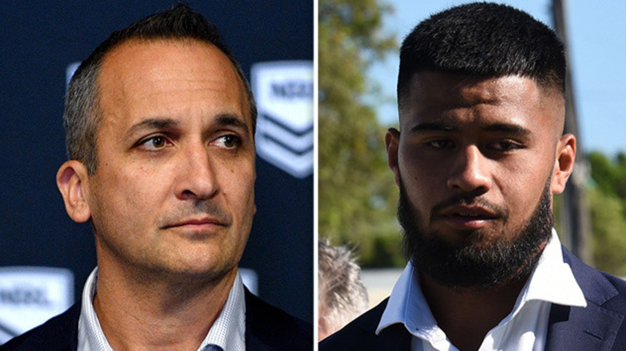 The NRL is preparing to suspend Payne Haas for his foul-mouthed tirade at police — but the Police Minister says he should never play again.
