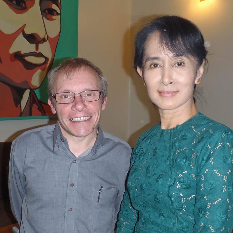 Australian economist Sean Turnell with Aung San Suu Kyi.
