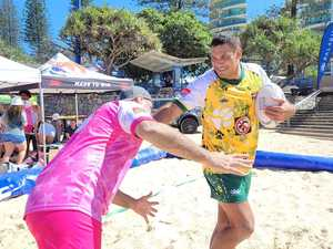 Beach Rugby hits sand for second day of action