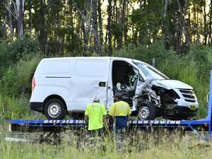 Man trapped as early morning smash closes highway