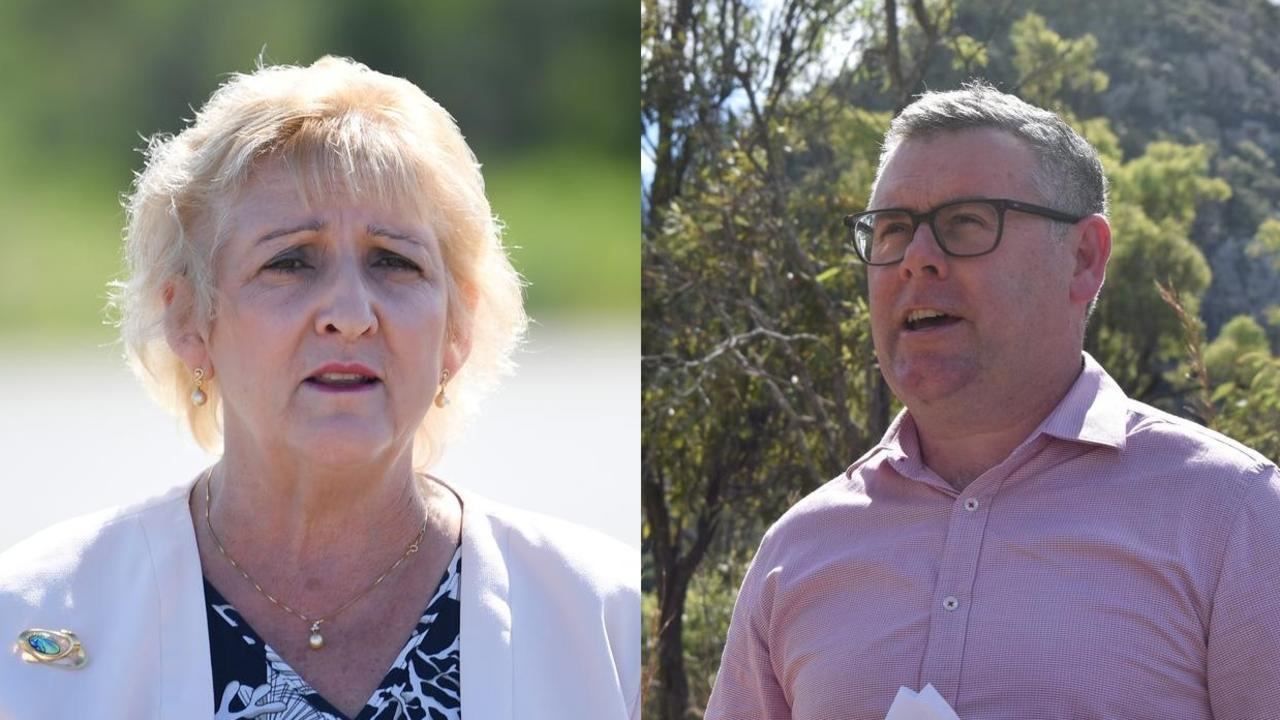 Member for Capricornia Michelle Landry and Queensland Senator Murray Watt.