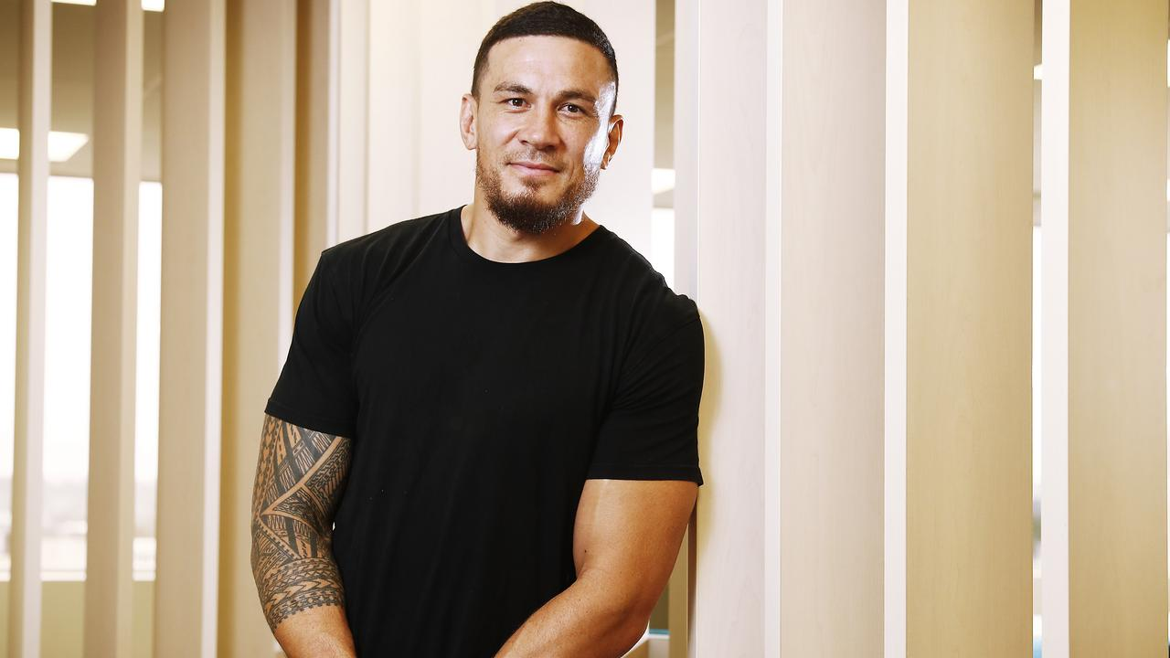 Sonny Bill Williams announcing the release of his new autobiography. Picture: Sam Ruttyn