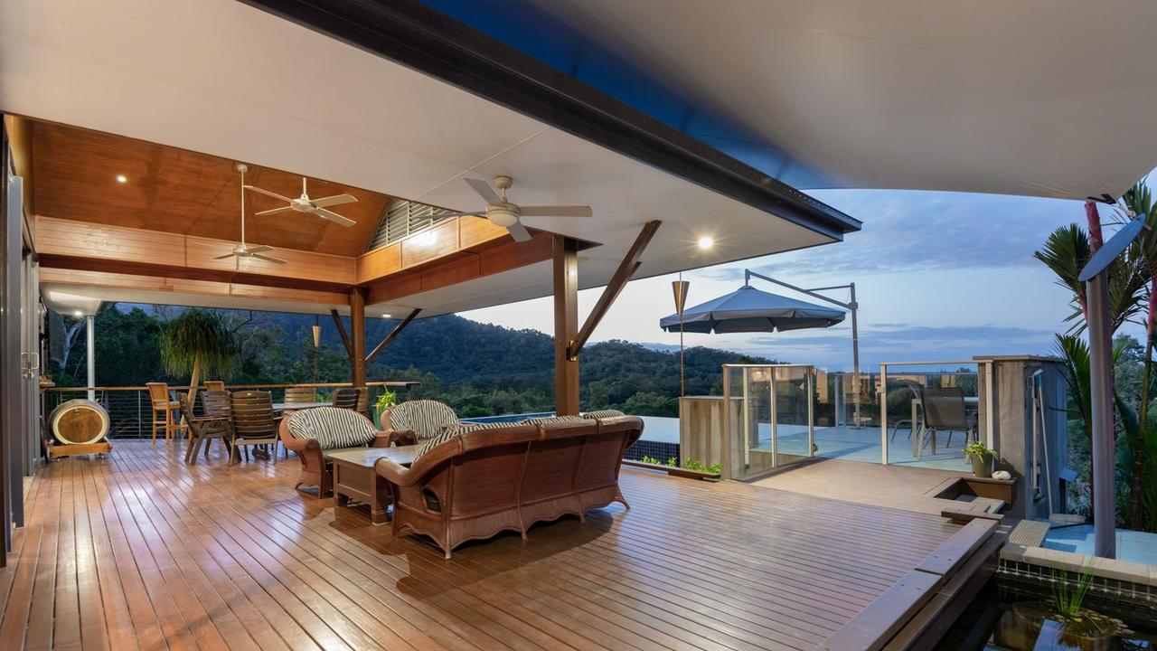 KIIS FM presenter Kyle Sandilands has bought a stunning mansion at Mowbray near Port Douglas on a 2.5ha block with stunning views, a massive entertaining area and a glorious infinity pool. PICTURE: SUPPLIED