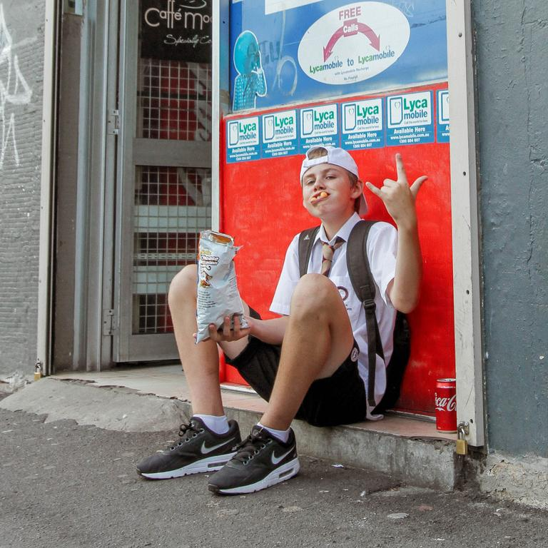 A 2018 photo of an even younger Charlton Howard outside a Sydney convenience store.