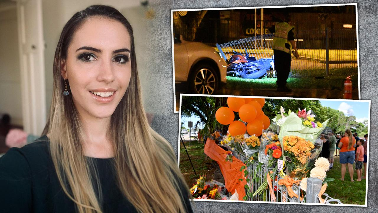 Jennifer Board was riding her motorbike, inset top, when she was killed. A floral tribute has been left at the scene of the crash.