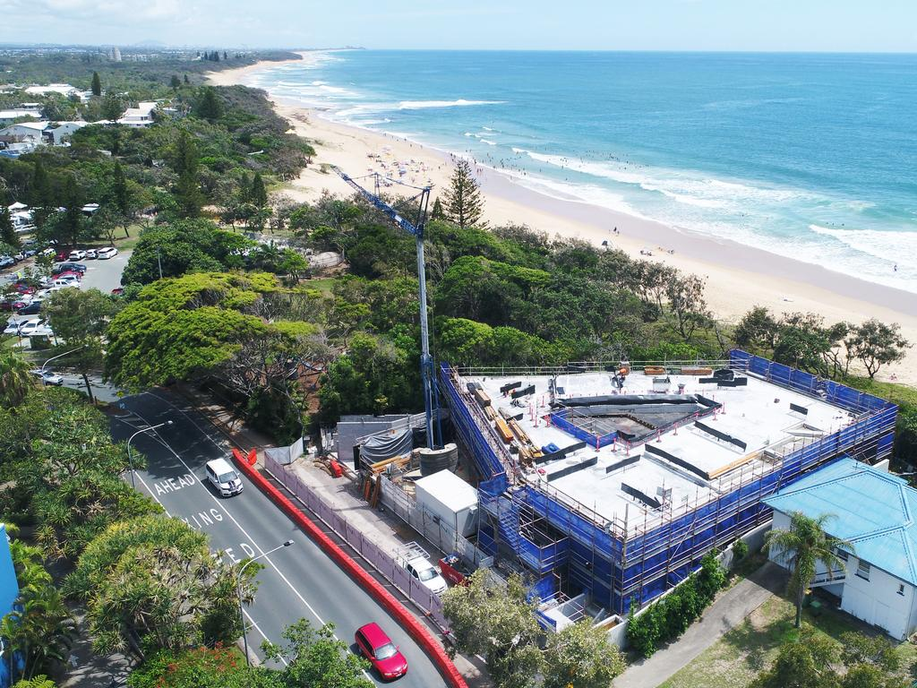 The property overlooks Dicky Beach. Picture: Patrick Woods.