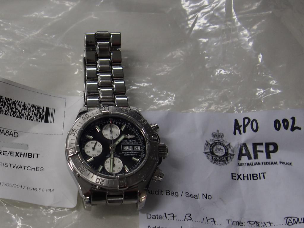Luxury watches were also seized. Picture: Australian Federal Police
