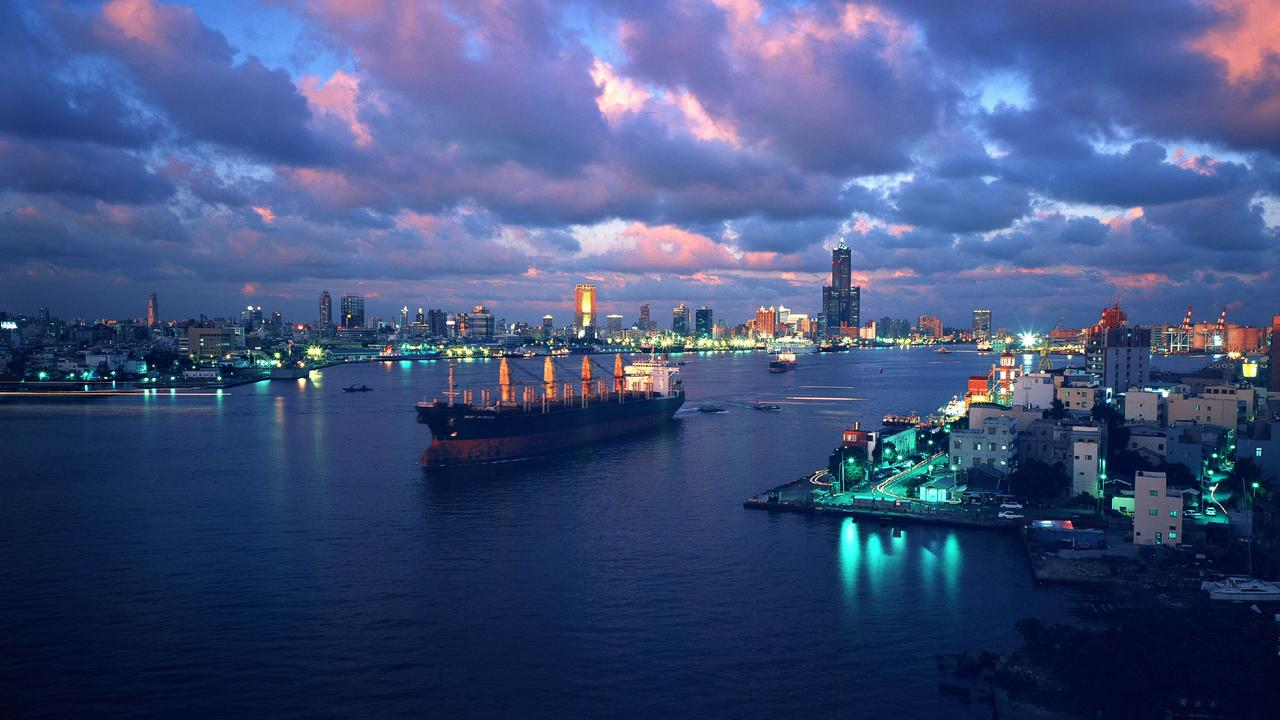 The harbour city of Kaohsiung in southern Taiwan is the country's number-one port and world's third-largest container terminal.