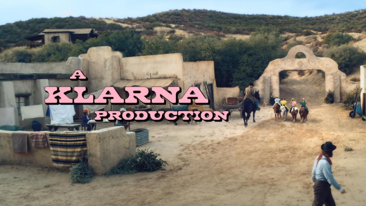 The Wild West-themed Super Bowl ad for Klarna was produced by Australians. Picture: Klarna