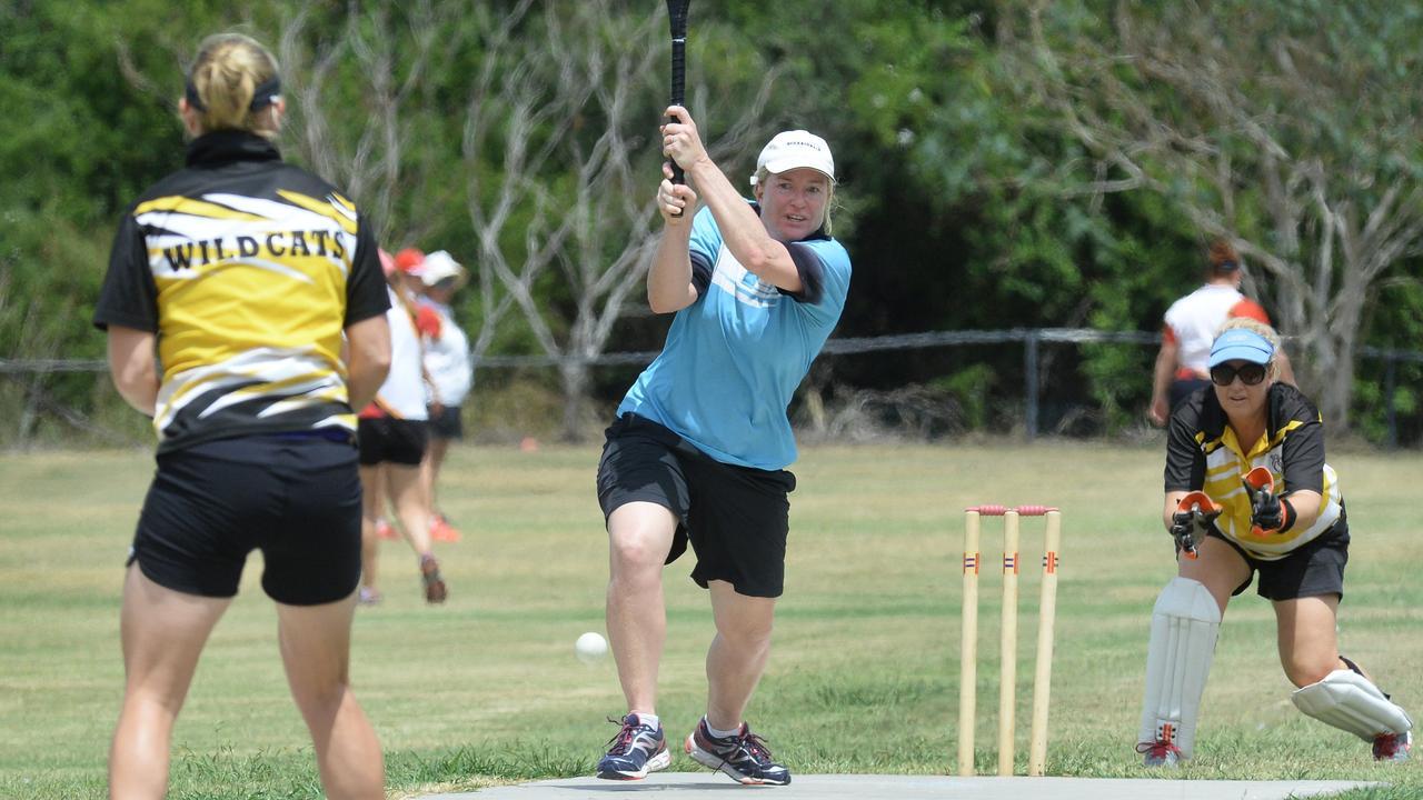 Occasionals batter Karen Devin.