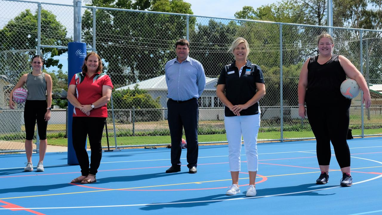 NETBALL TIME: The Chinchilla community has scored a premier netball facility with a major upgrade to the existing courts now complete. Picture: WDRC