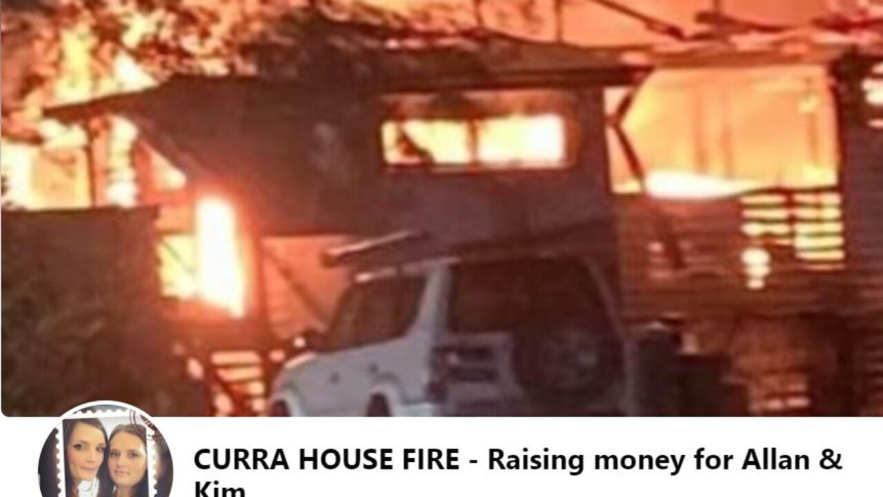 A fundraiser has been started to help a Curra couple who lost the contents of their home in a house fire on Friday night. Picture: Facebook