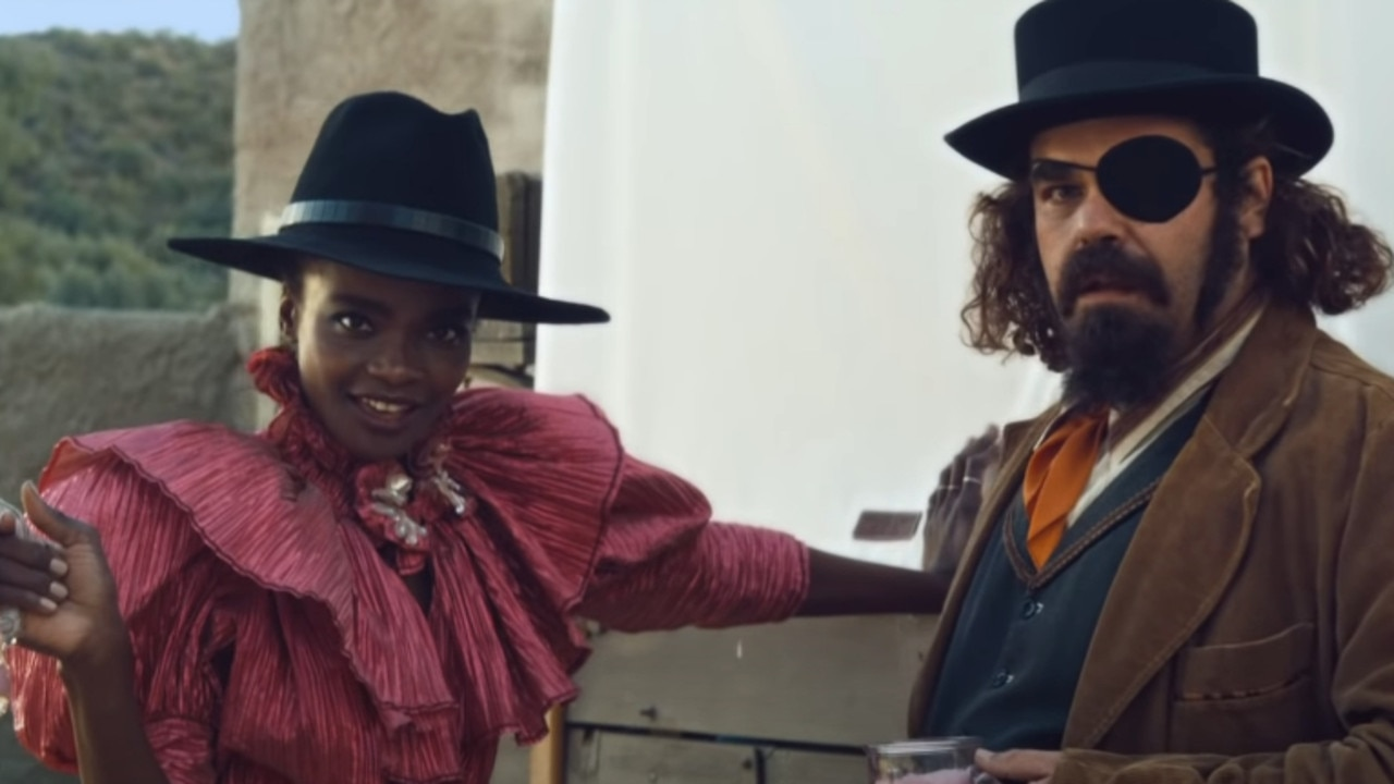 A scene from The Four Quarter-Sized Cowboys Super Bowl commercial. Picture: Klarna