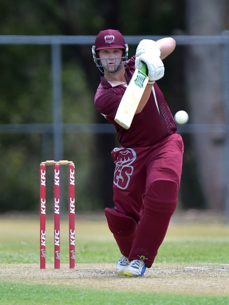Caboolture batsman Matthew Schubert.