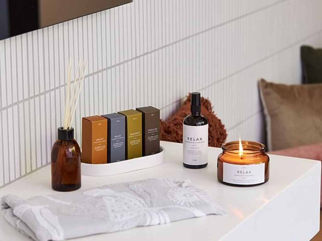 It also includes a new zen range, featuring $12 candles, $9 diffuser, $6 essential oil blend and $6 lavender and camomile room spray. Picture: Kmart