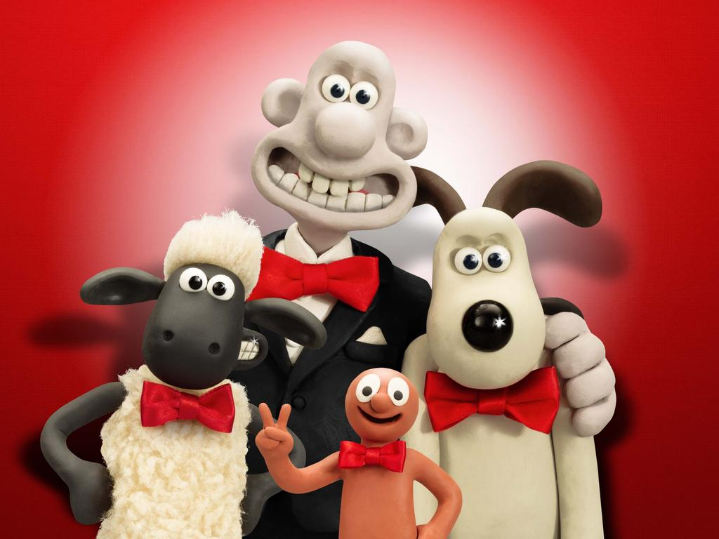 Wallace & Gromit, pictured with Shaun the Sheep. Picture: Supplied.