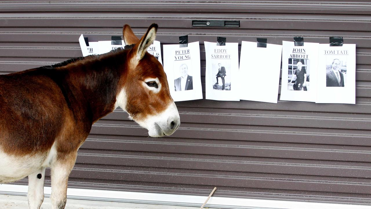 The ECQ qualifies a donkey vote as a number 1,2,3,4,5 from top to bottom on the ballot paper.