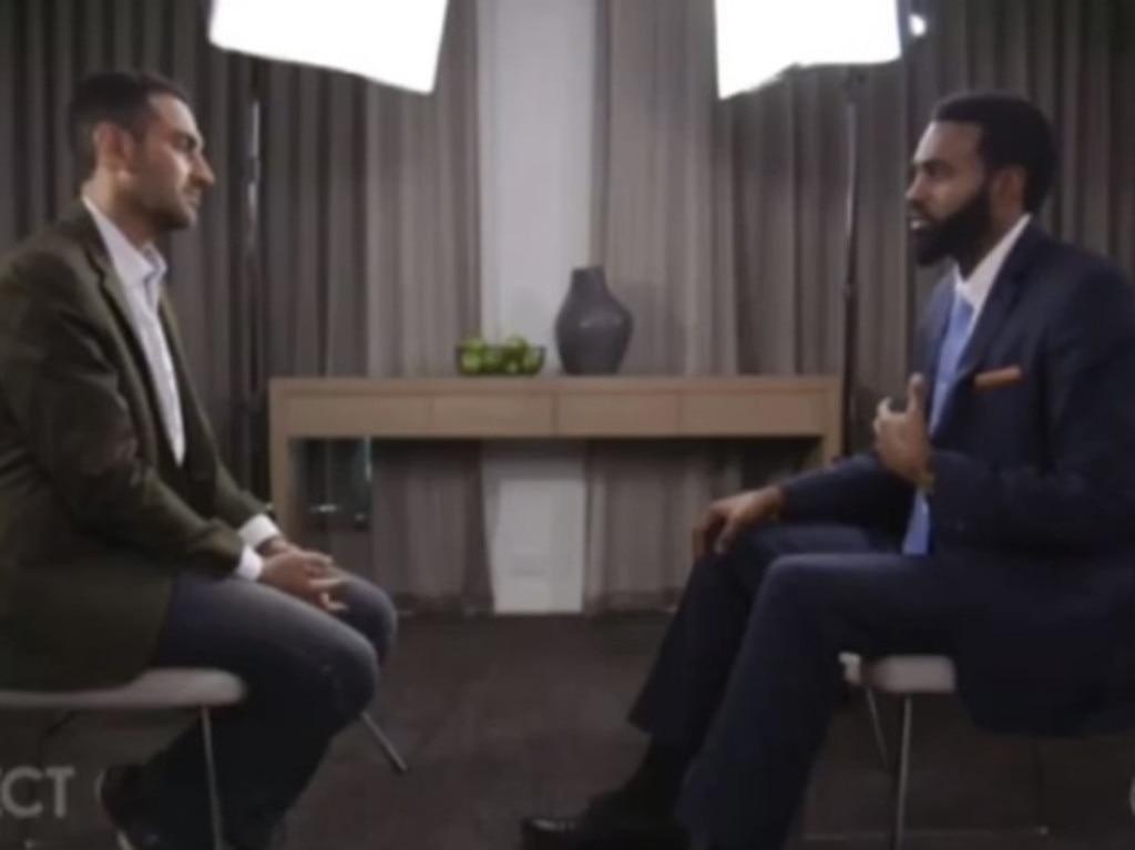 Waleed Aly interviewed Heritier Lumumba in 2017