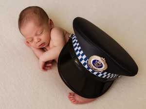 Fallen officer's fiancee welcomes baby after crash