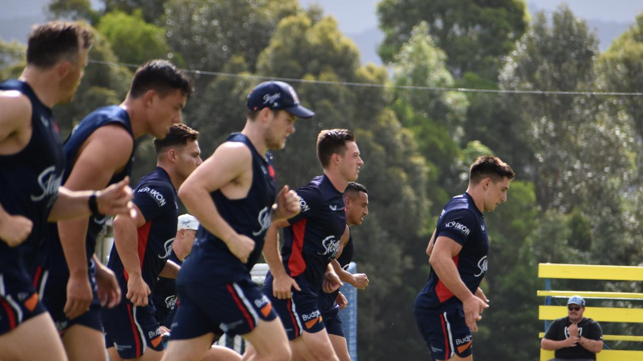 Photos from the Sydney Roosters training session at Mullumbimby on Monday February 4. (Credit: Adam Daunt)