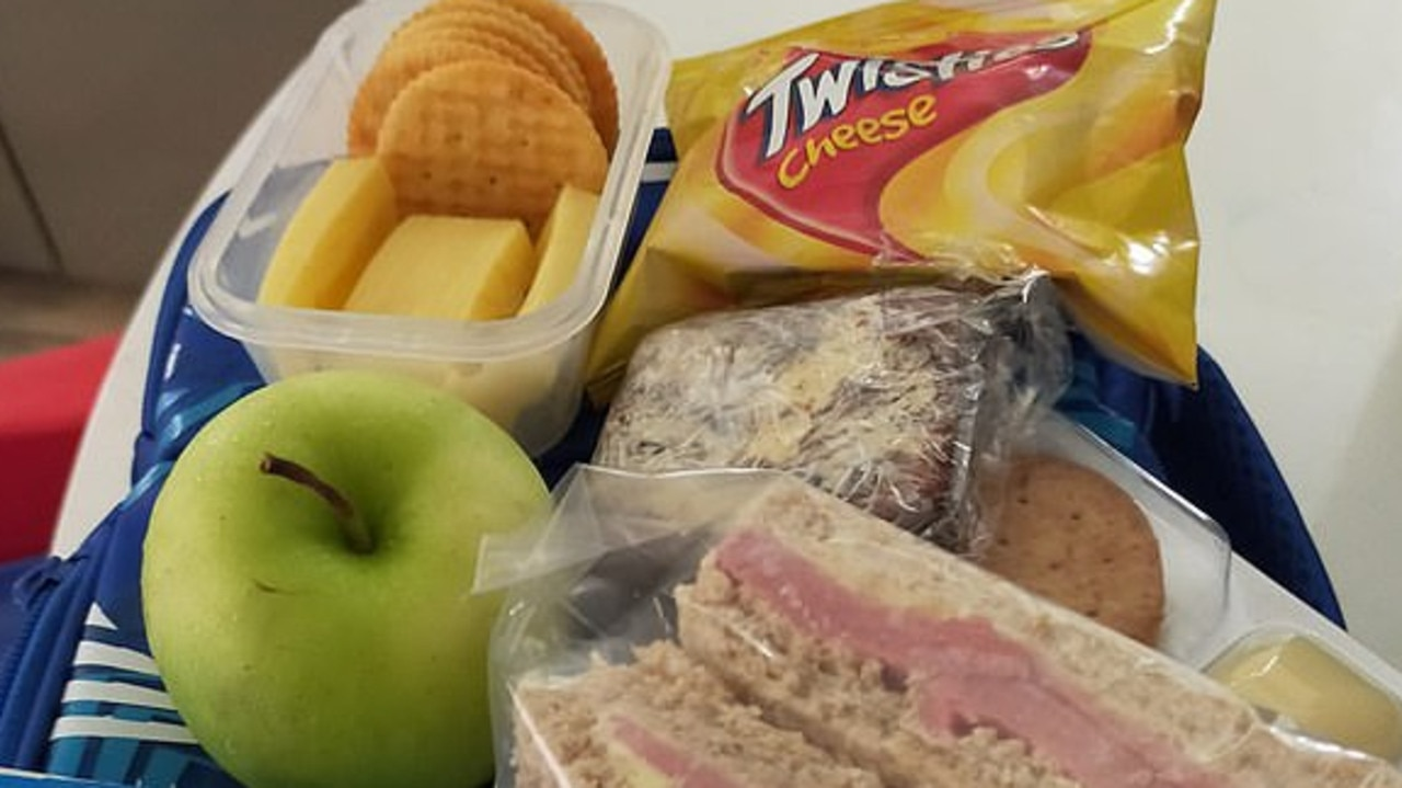 Mum shamed over son's school lunch box. Picture: Facebook