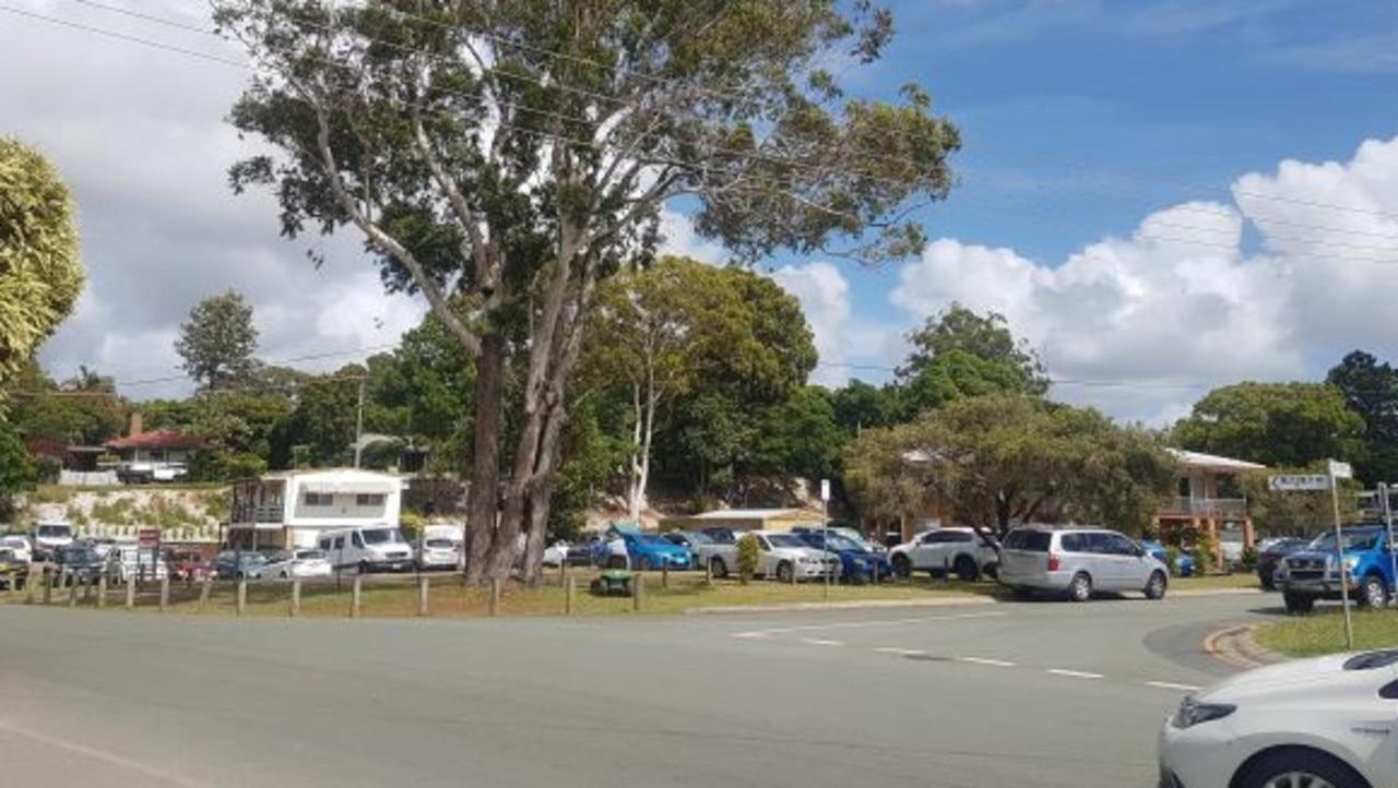 Parking congestion in streets around Weinam Creek ferry terminal at Redland Bay.