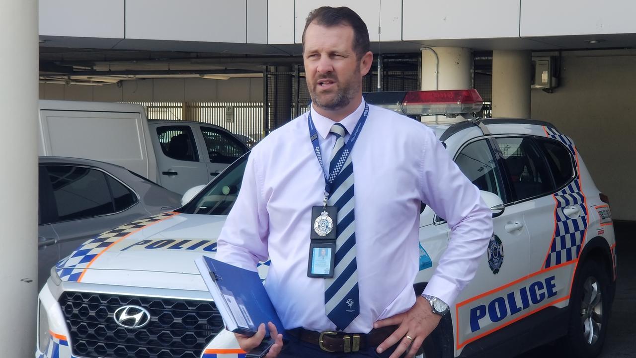 Detective Senior Sergeant Luke Peachey on Tuesday.